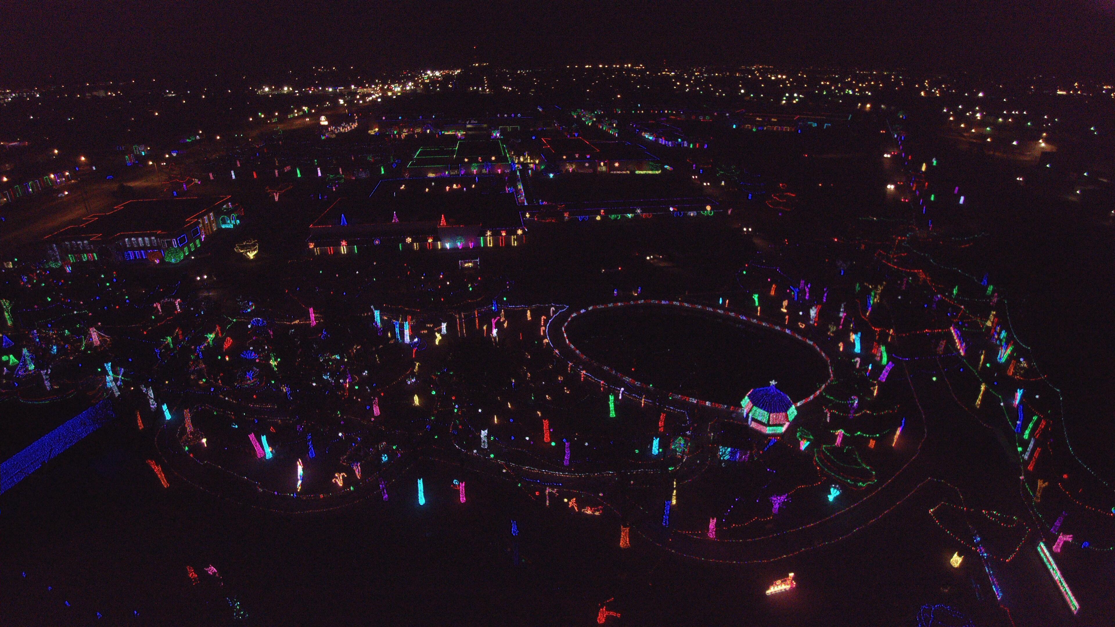 Rhema Christmas Lights.Christmas Light Drone Pic Rhema Lights