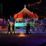 Enjoying the Christmas Lights in Rhema Park