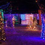 American Flag lit up for Rhema Christmas Lights Extravaganza