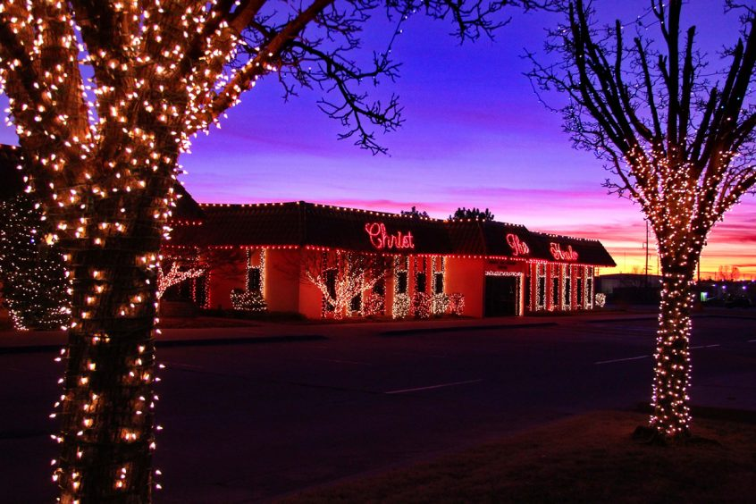 Beautiful Colors at Rhema Christmas Lights Extravaganza